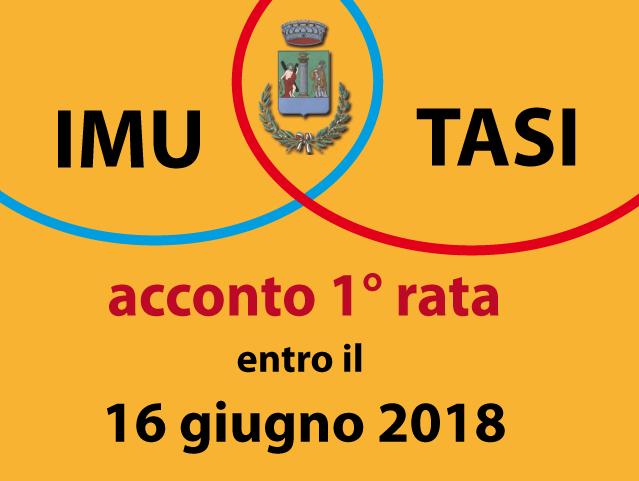 AVVISO: SCADENZA 1 RATA ACCONTO IMU - TASI