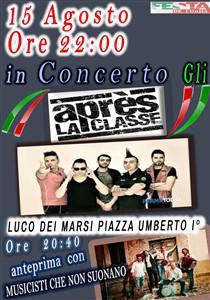 In concerto, a Luco Dei Marsi, la band
