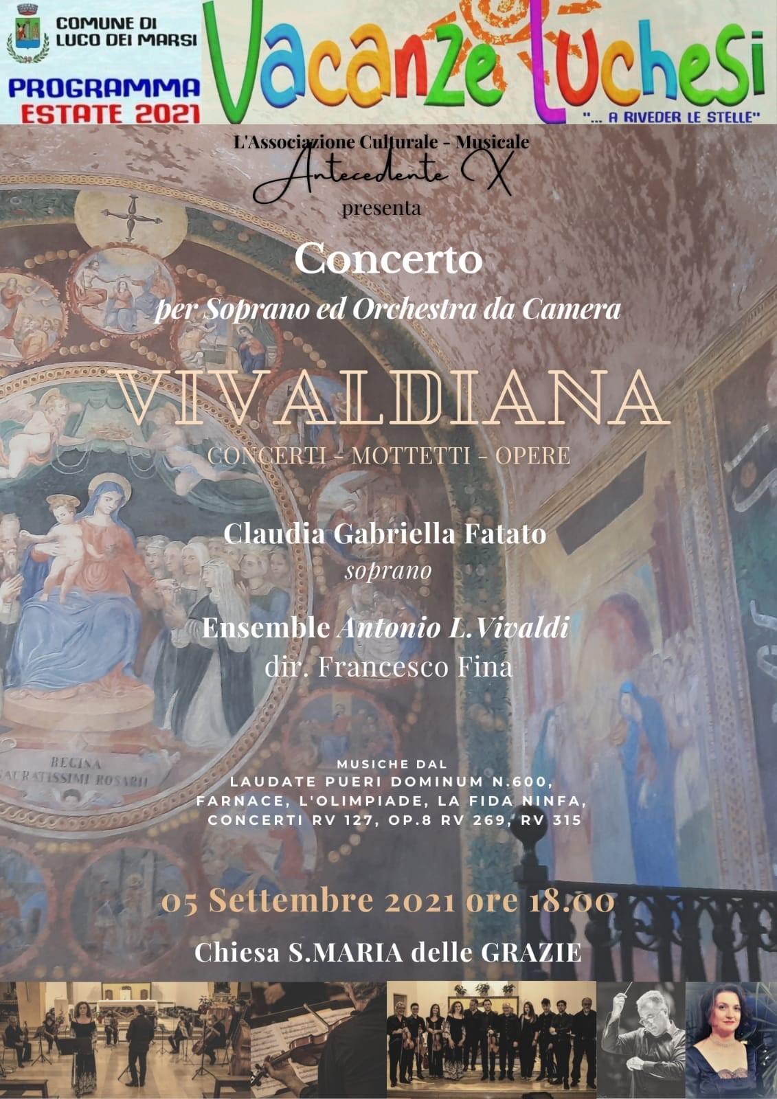 Vivaldiana, note immortali per il gran finale delle ''Vacanze luchesi''